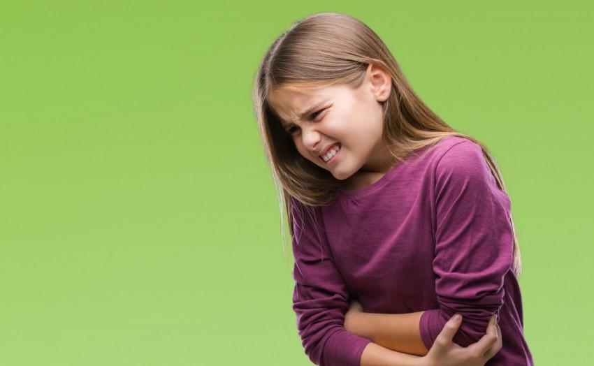 女孩胃疼 - 表情
