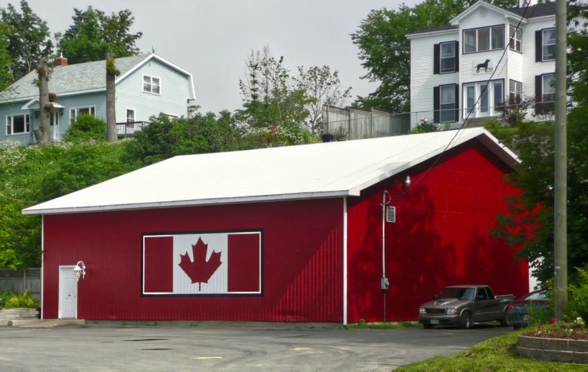 """加拿大""""枫叶""""国旗房"""